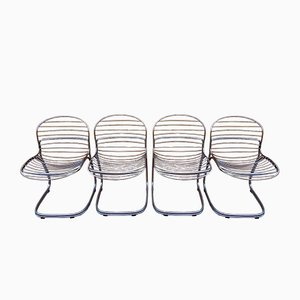 Vintage Dining Chairs by Gastone Rinaldi, Set of 4