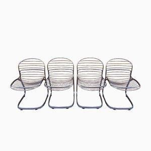 Vintage Esszimmerstühle von Gastone Rinaldi, 4er Set