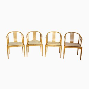 Danish Model 4283 China Armchairs by Hans J. Wegner for Fritz Hansen, 1988, Set of 4