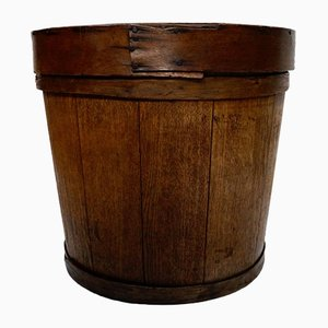 Antique Oak Cheese Press Tub