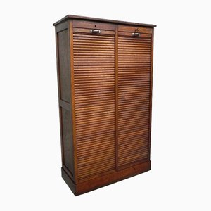 Oak Shutter Box with 2 Shutters, 1930s