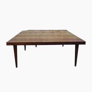 Vintage Rosewood Coffee Table with Opening on One Corner, 1960s