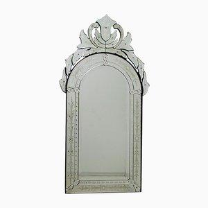 Abgeschrägter venezianischer Mid-Century Spiegel, 1950er