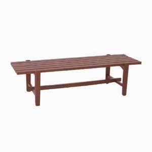 Holzbank von Ezio Longhi für Elam, 1950er