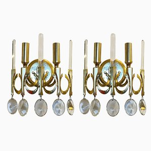 Mid-Century Sconces by Gaetano Sciolari, 1960s, Set of 2