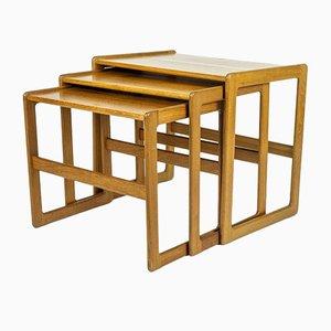 Danish Teak Nesting Tables by Arne Hovmand-Olsen for Mogens Kold, 1960s, Set of 3