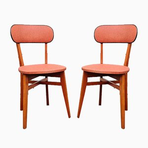 Vintage French Side Chairs, 1950s, Set of 2
