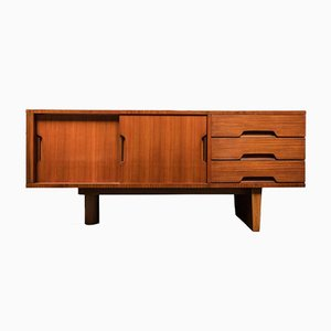 French Mahogany and Ash Sideboard by Robert Debieve, 1955