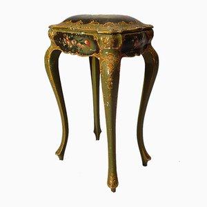 Mobile da tavolo veneziano in legno dipinto, XIX secolo