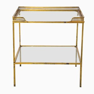 Brass Side Table with Gallery on Top, 1970s