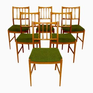 Swedish Oak Dining Chairs, 1960s, Set of 6