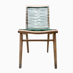 Chaise en Chêne et en Plastique par Louis Sognot
