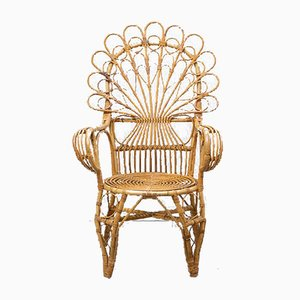 Bamboo and Wicker Side Chair, 1960s