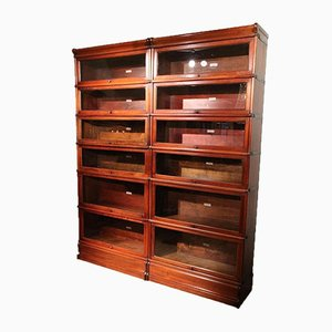 Antique Mahogany Globe Wernicke Bookcase, Set of 12