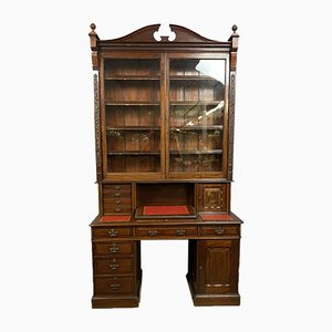 Napoleon III Mahogany Multi-Function Bookcase