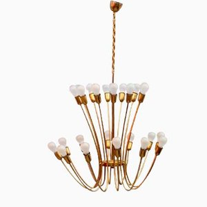 Austrian Chandelier by J. T. Kalmar for Kalmar, Vienna, 1950s