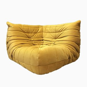 Vintage Yellow Togo Corner Sofa by Michel Ducaroy for Ligne Roset
