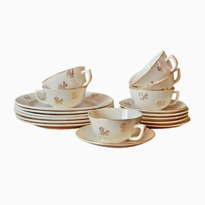 Tea Set from Badonviller, 1950s, Set of 18