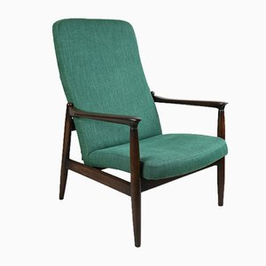 Vintage Green High Armchair by Edmund Homa, 1970s