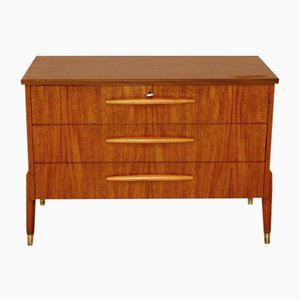 Swedish Teak and Beech Chest of Drawers, 1950s