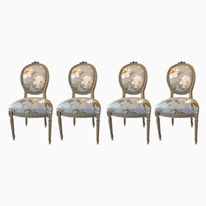 Antique French Louis XVI Chairs, Set of 4