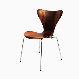 Chaise en Palissandre Série 7 par Arne Jacobsen pour Fritz Hansen, 1965