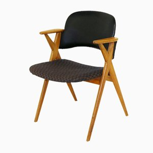 Swedish Oak Desk Chair, 1960s