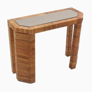Rattan Console Table by Giusto Puro Purini for Vivai del Sud, 1970s