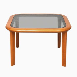 Cherry and Glass Coffee Table by Walter Knoll, 1960s