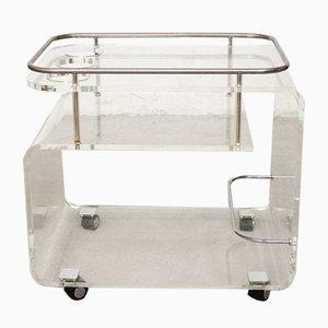 Plexiglas Bar Cart, 1970s