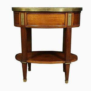 Louis XVI Mahogany and Bronze Side Table