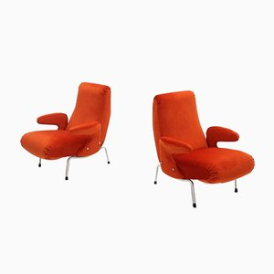 Mid-Century Delfino Armchairs by Erberto Carboni for Arflex, 1950s, Set of 2