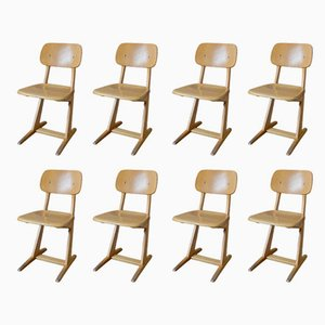 Children's Chairs from Casala, 1960s, Set of 8