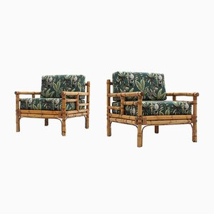 Vintage Rattan Armchairs from Vivai del Sud, 1970s, Set of 2