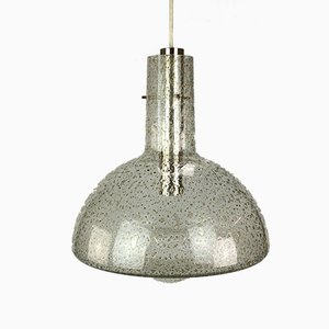 Space Age Hanging Lamp in Glass from Temde, 1960s