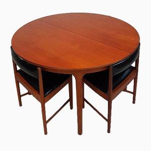Mid-Century Teak Space Saver Tisch & Esszimmer Set von Mcintosh