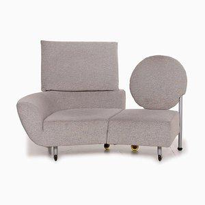 Topkapi Grey Fabric 2-Sitzer Sofa von Cassina