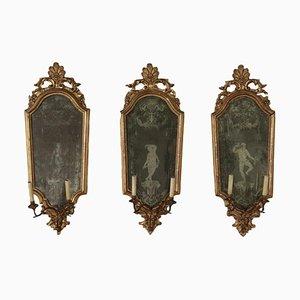 Specchi Luigi XIV, set di 3
