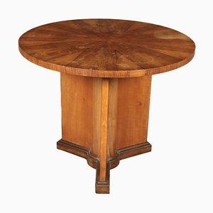 Walnut Veneer Coffee Table, 1930s