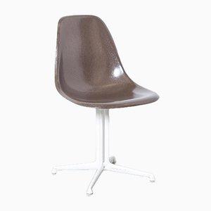 Brauner DSL La Fonda Stuhl von Charles & Ray Eames