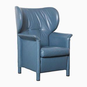 Sessel aus blauem Leder von Wittmann