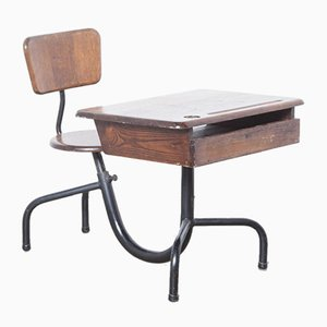 Monobloc School Desk Lectern by Jean Prouvé for Morice