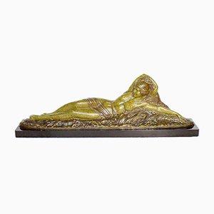 Scultura Demétre Chiparus, estate, Art Déco in bronzo