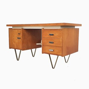 Mid-Century Writing Desk on Hairpin Legs, the Netherlands, 1960s