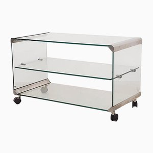 Glass and Metal Coffee Table or Trolley from Gallotti & Radice, Italy, 1975