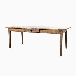 French Oak Rectangular Farmhouse Dining Table, 1920s