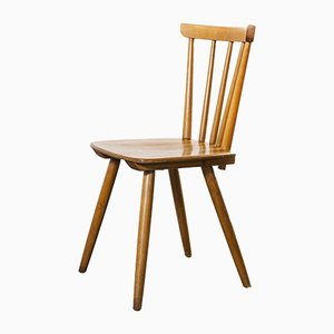Mid-Century French Beech Stick Back Dining Chair, 1950s