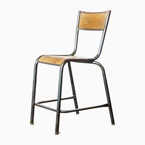 Hochlabor Stapelbare Esszimmerstühle oder Barhocker von Mullca, 1950er, Set of 24