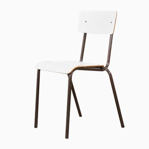 White Stacking Dining Chair from Mullca, 1970s