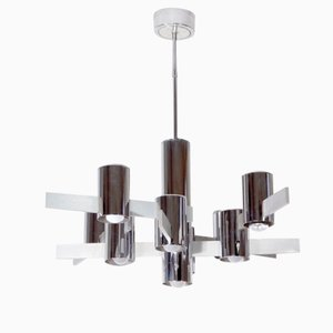 Aluminium Ceiling Light by Gaetano Sciolari